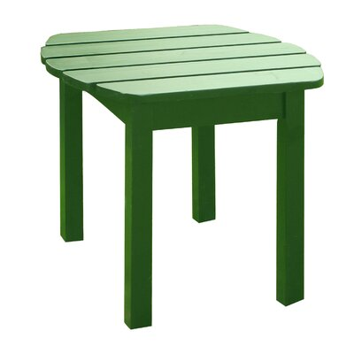 Edgell Solid Wood Side Table Finish: Hunter Green by Andover Mills