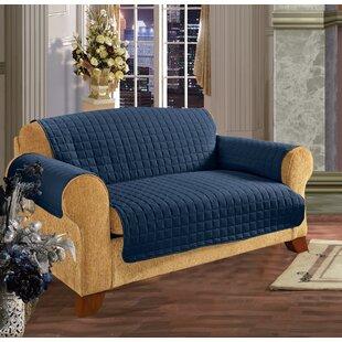 navy blue sofa slipcover wayfair rh wayfair com Navy Blue Sofa and Loveseat Blue Sofa Covers