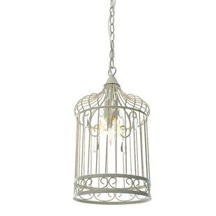 Cage pendant light wayfair birdcage 1 light foyer pendant aloadofball Choice Image
