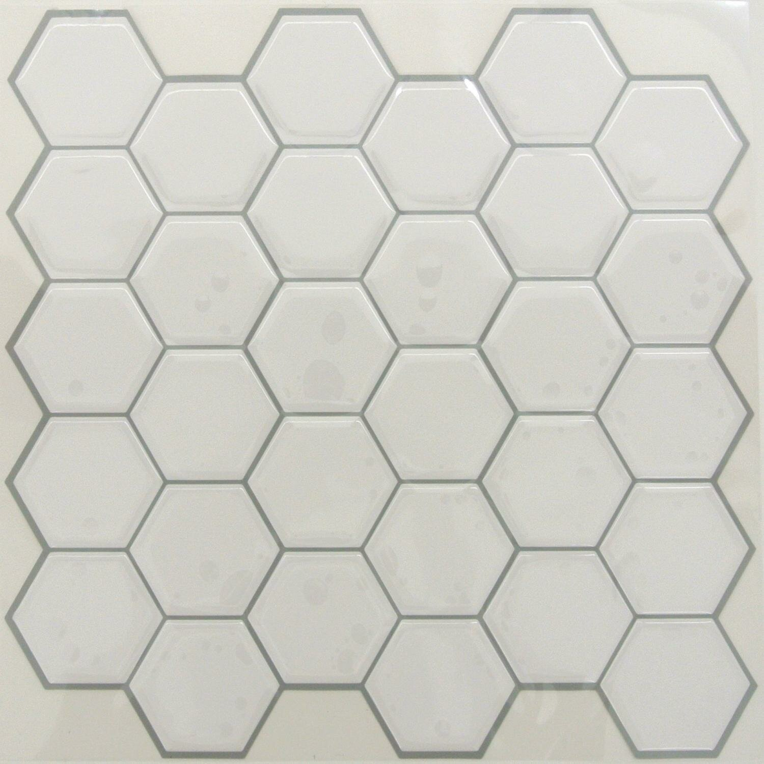 Room Mates Hexagon 105 X 105 Pvc Peel Stick Mosaic Tile In