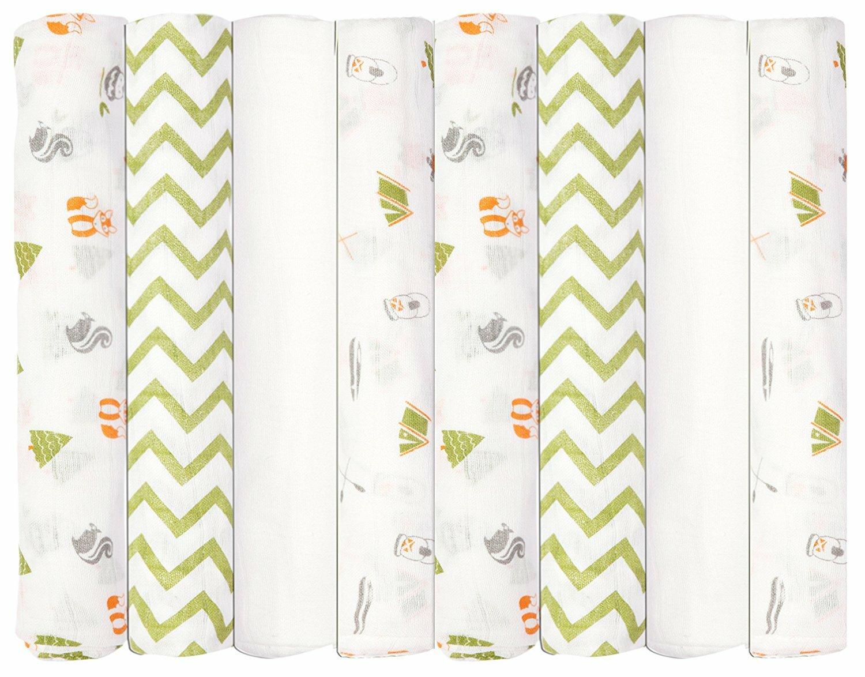 Babykin 8 Piece Cotton Baby Blankets Wayfair
