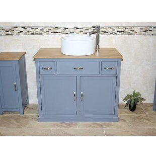 Jovanny Solid Oak 100mm Free-Standing Vanity Unit By August Grove
