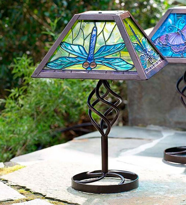 Tiffany solar outdoor 12 5 table lamp