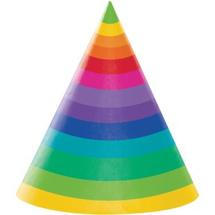 Rainbow Hat Paper Disposable Party Favor (Set of 24)