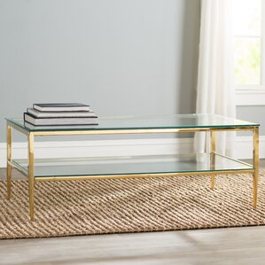 Genowefa Open Shelf Coffee Table. Chrome. Chrome. Gold