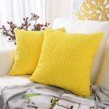 """Miltonvale 18"""" Throw Pillow Cover (Set of 2)"""