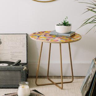 Hello Sayang Sparklers End Table by East Urban Home