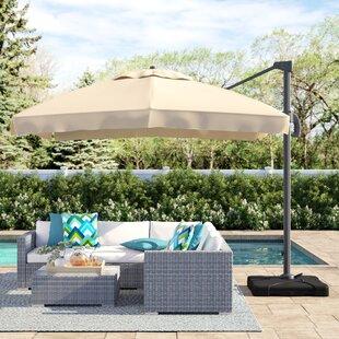 Bondi 9.8' Square Cantilever Umbrella by Sol 72 Outdoor