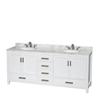 Clearance Sheffield 80 Double Bathroom Vanity Set By Wyndham Collection
