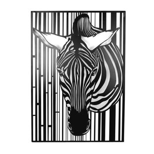 Metal Zebra Wall Décor