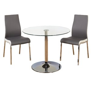 Salerno 3 Piece Dining Set by Latitude Run