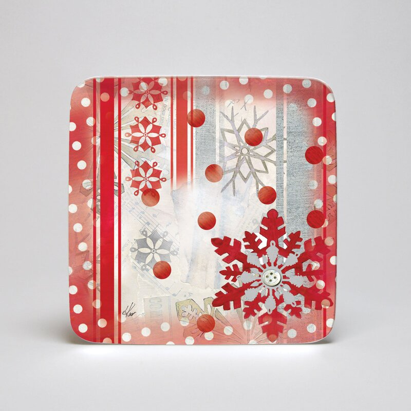 Winter Holiday Melamine Square 8.5\  Side Plate  sc 1 st  Wayfair & Lang Winter Holiday Melamine Square 8.5\