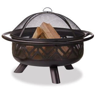 Echeverria Steel Wood Burning Fire Pit By Millwood Pines
