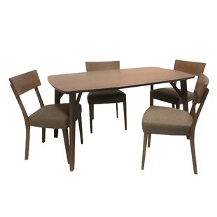 Crompton 5 Piece Solid Wood Dining Set George Oliver