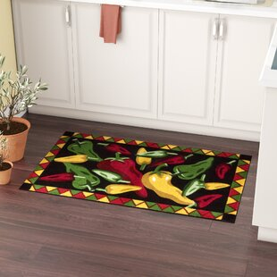 Greenmeadow Black Chili Peppers Area Rug