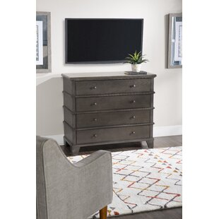 August Grove Marival Media 4 Drawer Chest