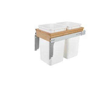 Double Top Mount 6.75 Gallon Pull Out/Under Counter Trash Can