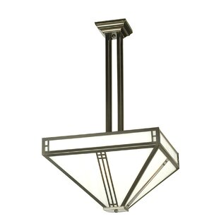 Prairie Loft Mission 4-Light Semi Flush Mount by Meyda Tiffany
