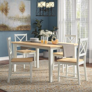 Livesay Crossback 5 Piece Dining Set by August Grove Discount