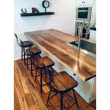 Scooped Seat Brew Haus Industrial Bar & Counter Stool (Set of 4) by The Strong Oaks Woodshop