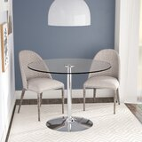 Cavell Round Glass Dining Table by Wade Logan®