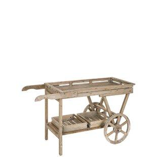 Lexus Wooden Bar Cart by August Grove