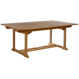 Quinlan Extendable Solid Wood Dining Tabl..