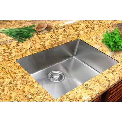 """Undermount Kitchen Single Sink ukinox micro series 22"""" x 18"""" single bowl undermount kitchen sink"""