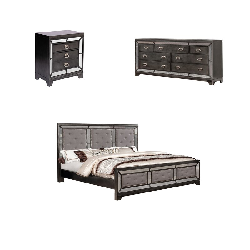 Everly Quinn Dania Standard 3 Piece Bedroom Set Wayfair