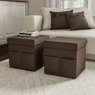 Charboneau Folding Storage Ottoman (Set of 2) by Charlton Home