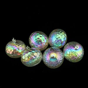 Shatterproof Hammered Disco Ball Ornament (Set of 6)