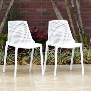 Indigo Stacking Patio Dining Chair (Set Of 2) by Wrought Studio Purchase