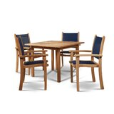Crider 5 Piece Teak Dining Set