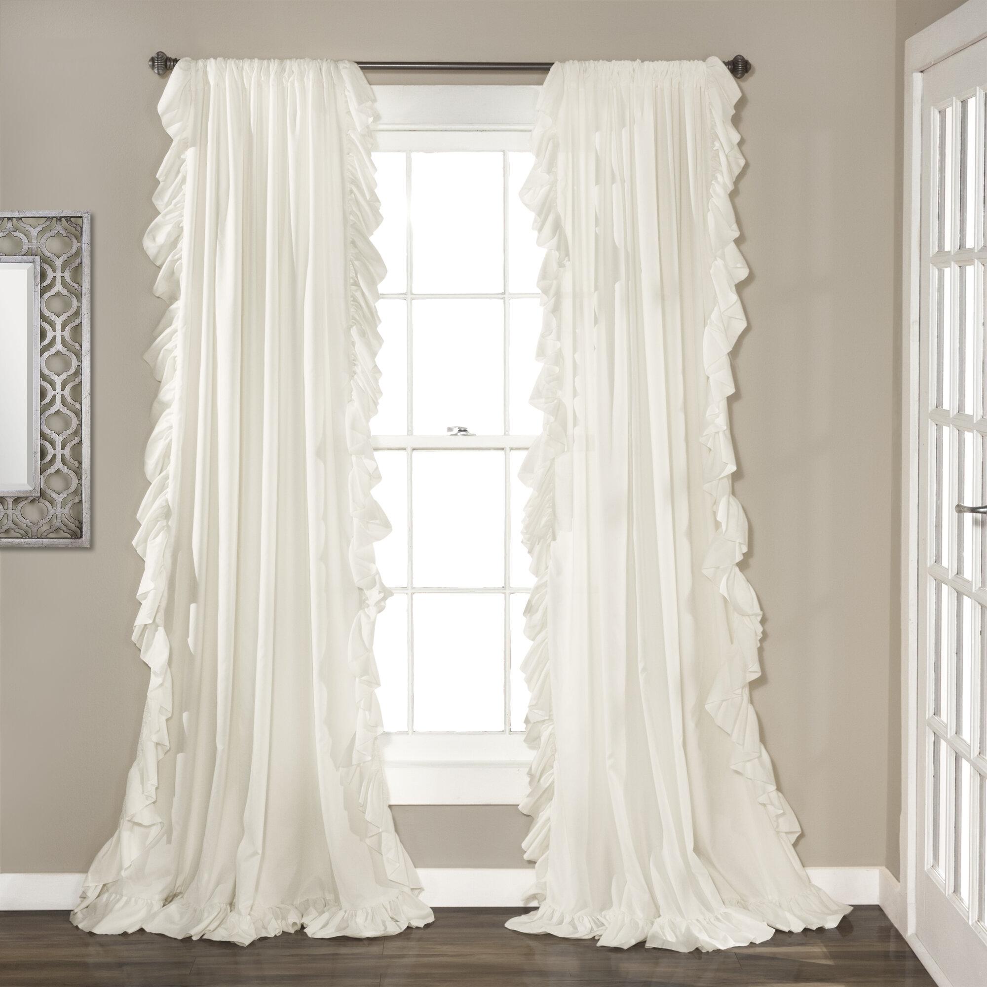 Greyleigh Minden Solid Color Semi Sheer Curtain Panels Reviews Wayfair