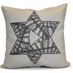 Hanukkah 2016 Decorative Holiday Geometric Outdoor Throw Pillow by The Holiday Aisle #1