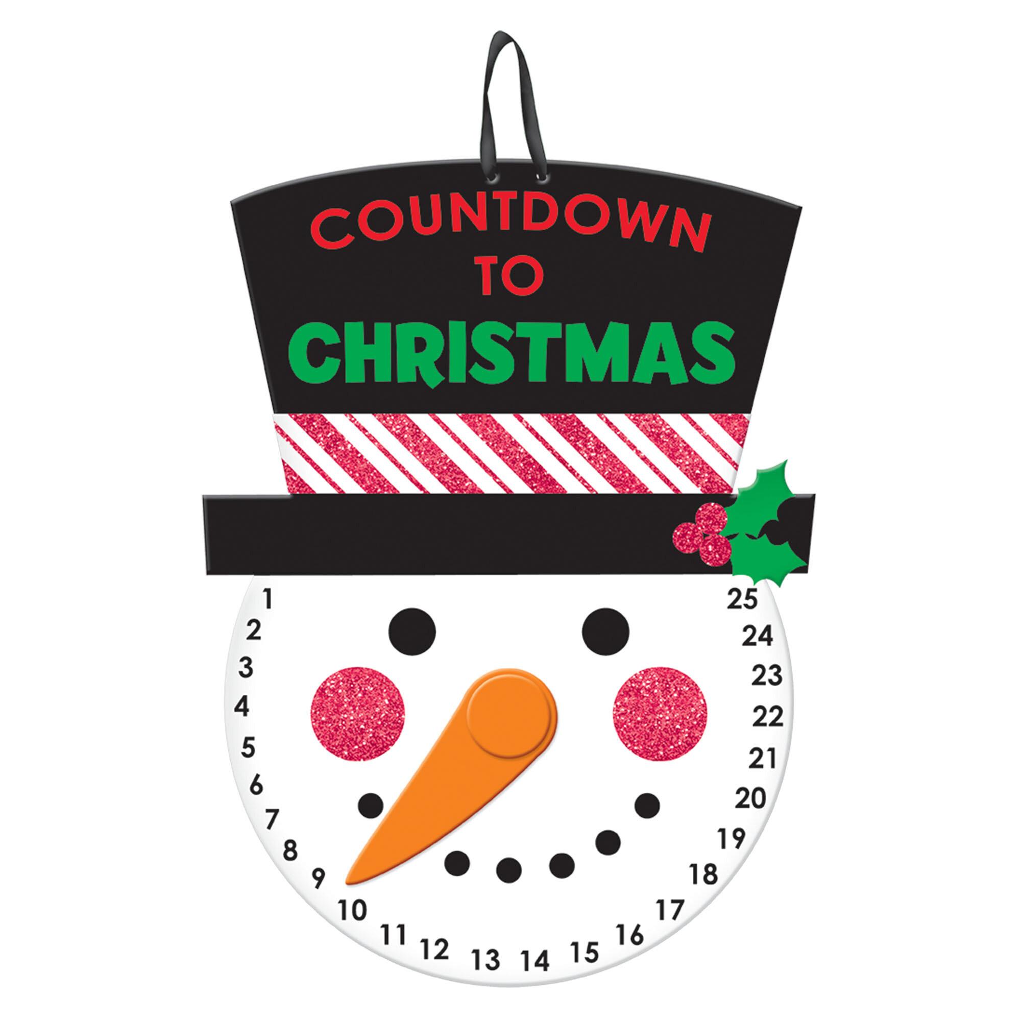 Countdown To Christmas Sign.Christmas Countdown Hanging Sign