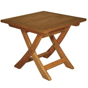 Terrace Mates Aspen Folding Square Side Table by Blue Star Group Great Reviews