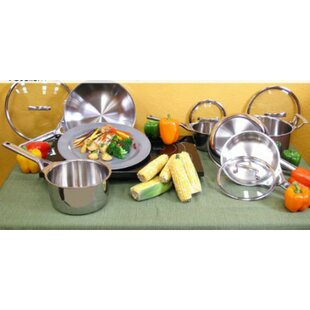 Gourmet 10-Piece Stainless Steel Cookware Set