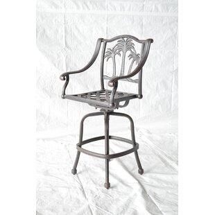 Maccharles Patio Bar Stool by Bayou Breeze