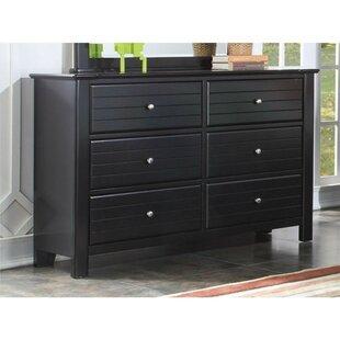 Nicole Wood 6 Drawer Double Dresser by Longshore Tides