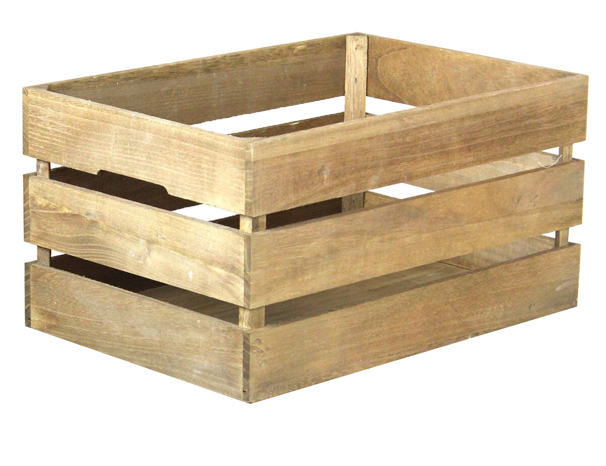 Quickway Imports Stackable Antique Style Wooden Crate Decorative ...