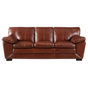 Arsneault Leather Sofa by Red Barrel Studio