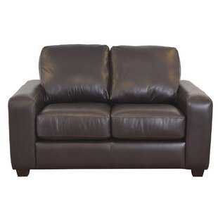 Hanson Leather Loveseat by Westland and Birch Herry Up