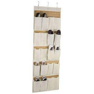 Home Basics 20-Pocket 10 Pair Hanging Sho..