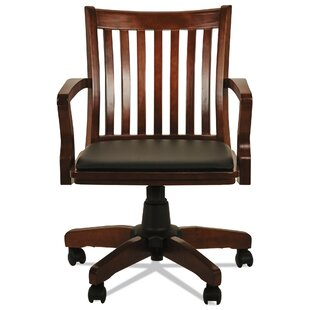 Garney Slat-Back Task Chair by Charlton Home Best Choices