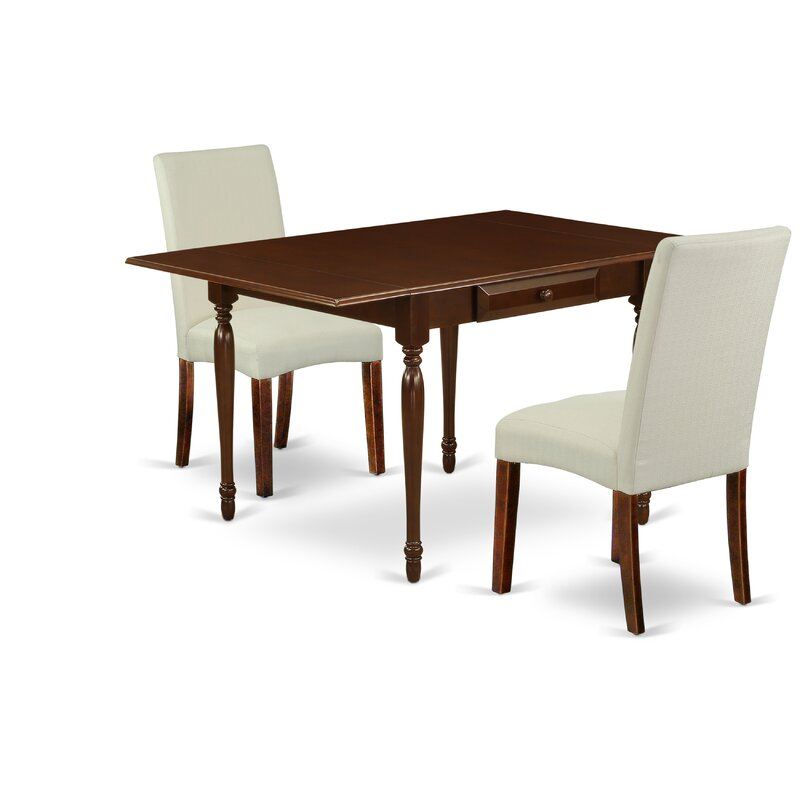 Ophelia Co 5pc Kitchen Table Set Consists Of A Small Kitchen Table And 4 Parsons Chairs With Dark Khaki Colour Linen Fabric Drop Leaf Table With Full Back Chairs Wayfair Ca