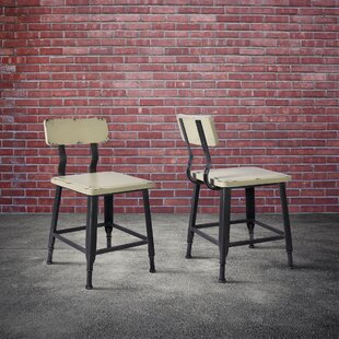 Bozarth Industrial Dining Chair (Set of 2) Williston Forge