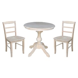 Quietwood 3 Piece Solid Wood Dining Set Rosalind Wheeler