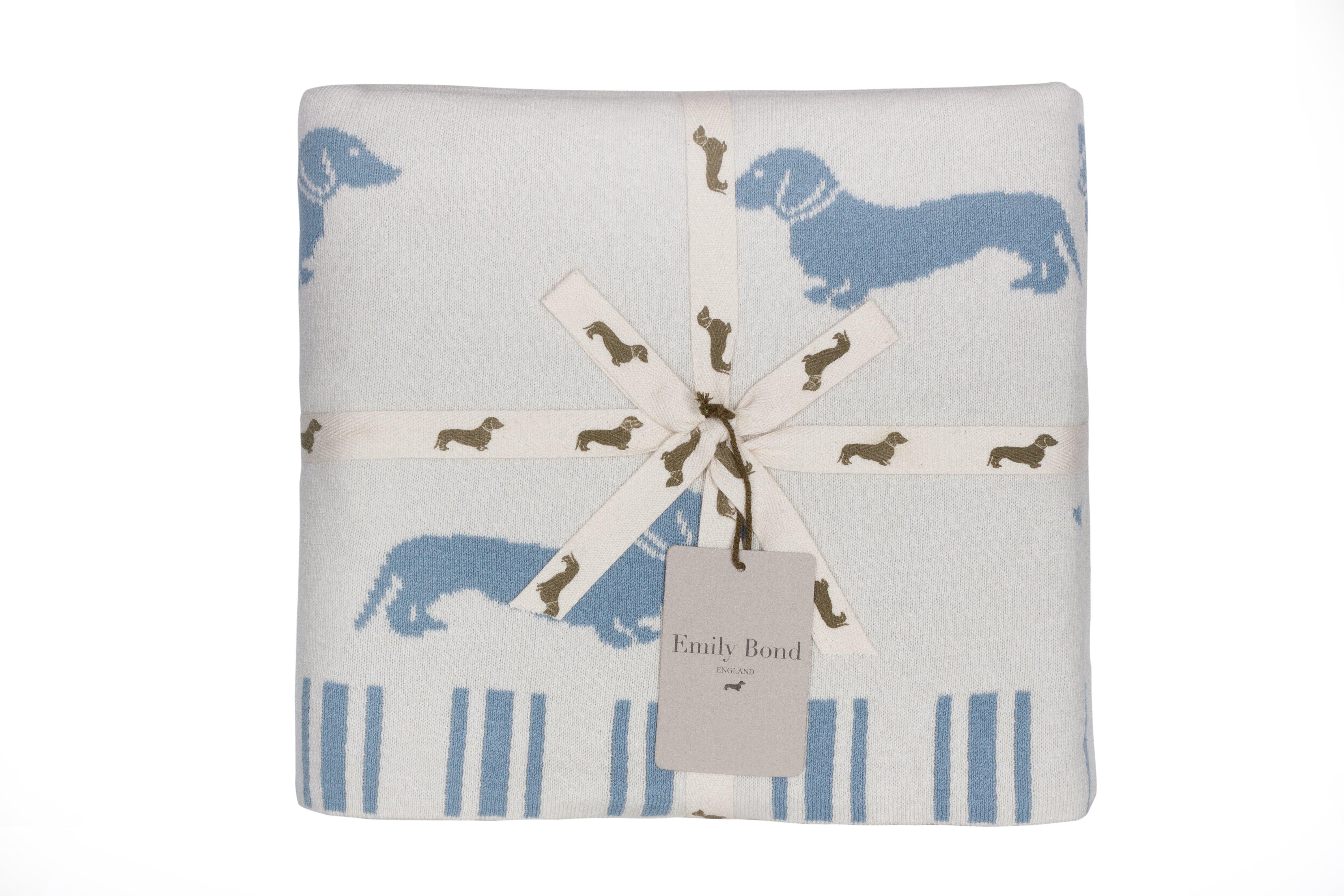 Emily Bond Dachshund Cotton Throw | Wayfair.co.uk