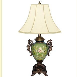 Water Garden Hand Painted Porcelain 29 Table Lamp